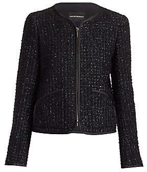 Emporio Armani Women's Shimmer Jacquard Tweed Jacket