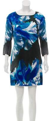 Just Cavalli Silk Print Mini Dress