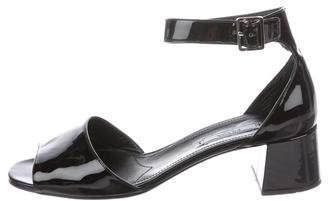 Prada Patent Leather Ankle Strap Pumps