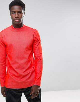 Weekday Jake Rib Long Sleeve T-Shirt