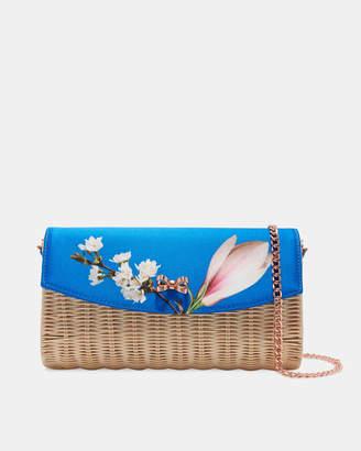 HAARLEY Harmony straw clutch bag