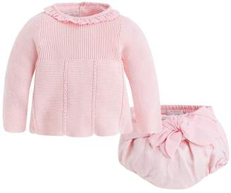 Mayoral Pink Sweater/bloomer Set