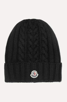 Moncler Cable-knit Wool Beanie - Black