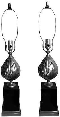 One Kings Lane Vintage Maison Charles-Style Lotus Lamps - Set of 2 - Thomas Brillet Inc.