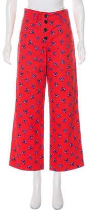 Kenzo High-Rise Floral Jeans Red High-Rise Floral Jeans