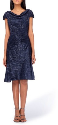 Women's Tahari Cowl Neck Fit & Flare Dress $128 thestylecure.com
