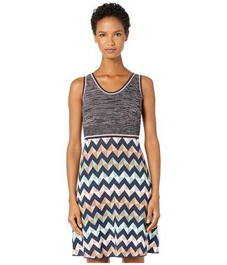 M Missoni Sleeveless Short Dress with Zigzag Space Dye