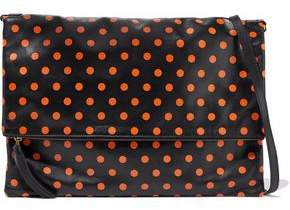 RED Valentino Polka-Dot Leather Wristlet