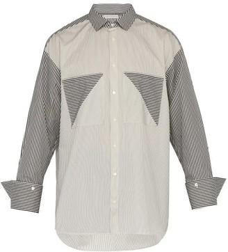 Palmer Harding Palmer//Harding Palmer//harding - Carl Double Patch Pocket Striped Cotton Shirt - Mens - Navy Multi