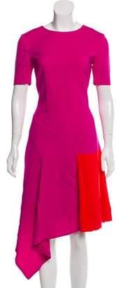 Oscar de la Renta Colorblock A-Line Dress