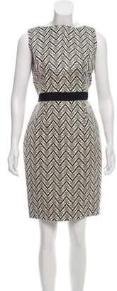 Christian Dior Patterned Sleeveless Dress