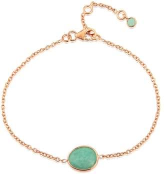 Auree Jewellery - Cuvette Rose Gold Vermeil & Amazonite Bracelet