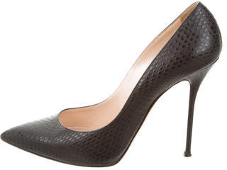 Casadei Embossed Pointed-Toe Pumps $125 thestylecure.com