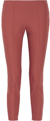 Theory - Alettah Cropped Stretch Cotton-blend Tapered Pants - Antique rose $265 thestylecure.com
