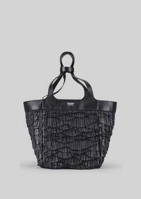 Giorgio Armani Tote Bag In Napa Leather
