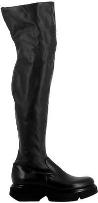 Elena Iachi Black Leather Boots