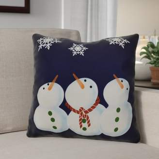 The Holiday Aisle Decorative Snowmen Geometric Print Throw Pillow