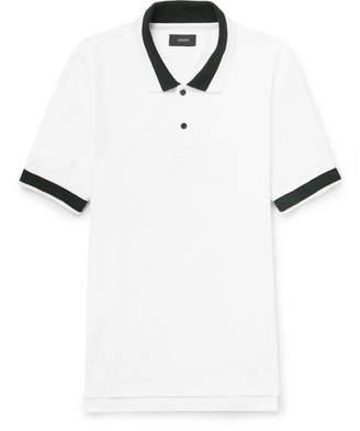 Joseph Contrast-Tipped Cotton-Piqué Polo Shirt