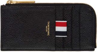 Thom Browne Black Half Zip Wallet
