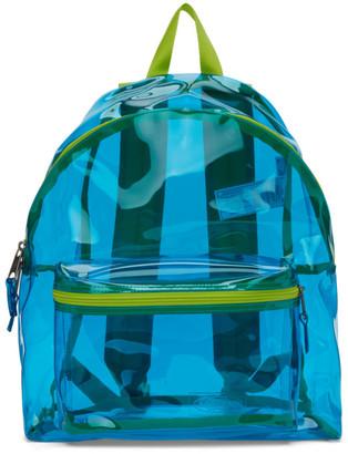 Eastpak Blue and Green Film Padded Pakr Backpack