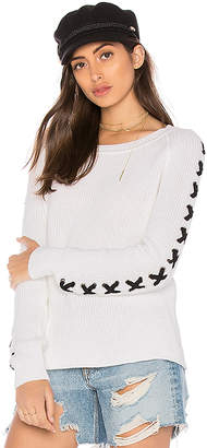 525 America Lace Up Sleeve Sweater
