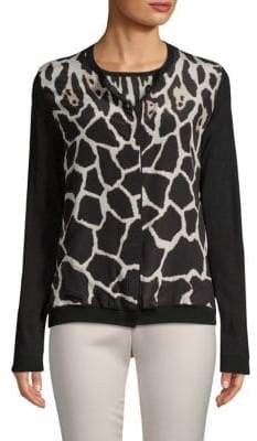 Roberto Cavalli Long-Sleeve Printed Cardigan