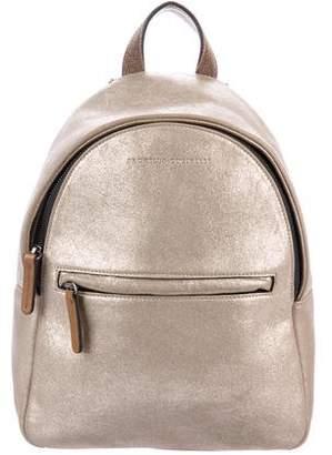 Brunello Cucinelli Metallic Suede Backpack