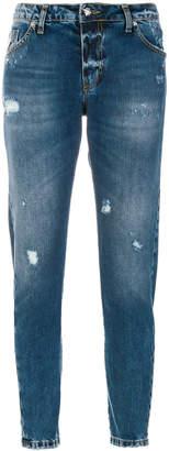 John Richmond printed slim-fit jeans