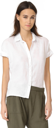 James Perse Short Sleeve Linen Shirt $185 thestylecure.com