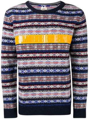 Junya Watanabe contrast stripe knitted jumper