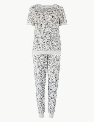 Marks and Spencer Cotton Rich Bunny Pyjama Set