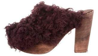 Brother Vellies Shearling Platform Clogs