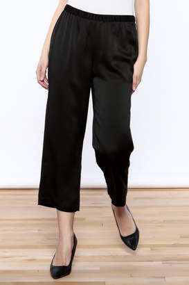 Eileen Fisher Black Silk Pant