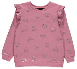George Pink Frill Trim Unicorn Sweatshirt
