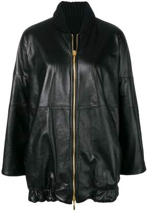 Alberta Ferretti oversized reversible jacket