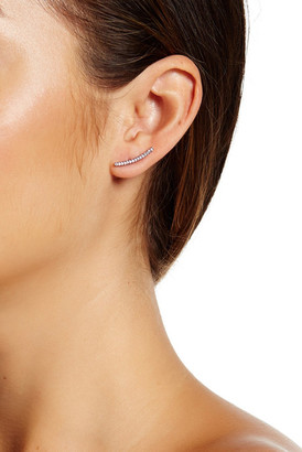 NADRI Pave Curved Bar Stud Earrings $38 thestylecure.com