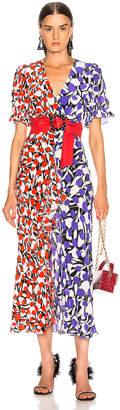Rixo Ariel Dress in Tulip Mono Red Purple | FWRD