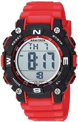 Armitron Sport Women's 45/7099BRD Digital Chronograph Resin Strap Watch