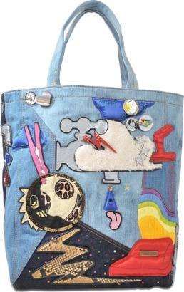 Marc Jacobs Julie Verhoeven Denim tote $225 thestylecure.com