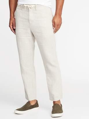 Old Navy Slim Linen Cropped Pants for Men