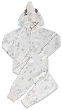 PJ Salvage Girls' Star-Print Unicorn Pajamas - Big Kid