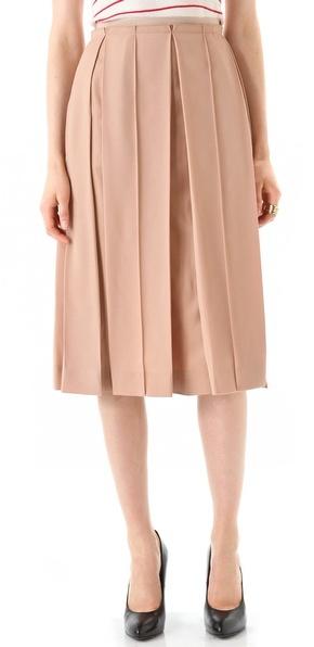 Sonia rykiel Nude Pleated Skirt