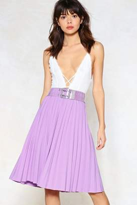Nasty Gal Pleat Stay Midi Skirt