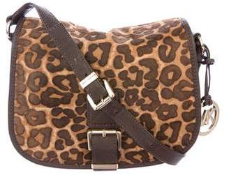 MICHAEL Michael Kors Ponyhair & Leather Saddle Bag