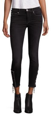 True Religion Halle Ankle Skinny Lace-Up Cropped Jeans $249 thestylecure.com