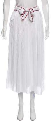 Giada Forte Silk-Blend Midi Skirt w/ Tags