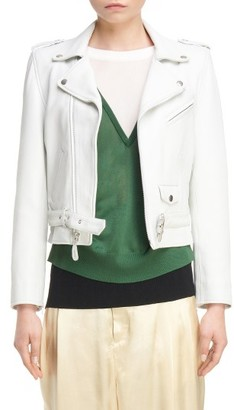 Women's Toga Crop Leather Jacket $1,590 thestylecure.com