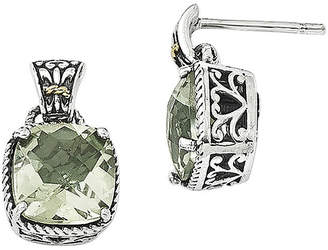 Couture FINE JEWELRY Shey Green Quartz Sterling Silver Antiqued Earrings
