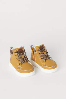 H&M Pile-lined High Tops - Yellow