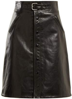 RED Valentino High-rise leather skirt